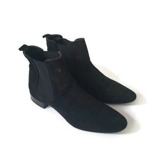 Zara booties boots suede black sz 38